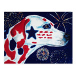 Fourth of July Star Spangled Dalmatian Post Card