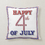 Fourth Of July Stars Patriotic Pillow