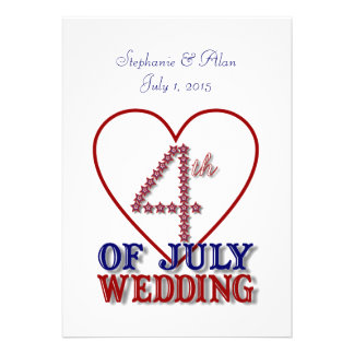 Fourth of July Stars Wedding Invitation