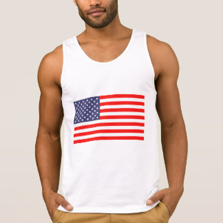 Fourth of July tank top shirt with American flag