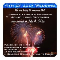 Fourth of July Wedding Announcement