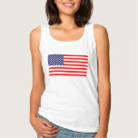 Fourth of July women's tank top with American flag