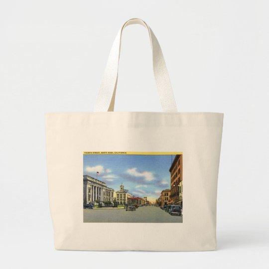 Fourth St., Santa Rosa CA Vintage Large Tote Bag