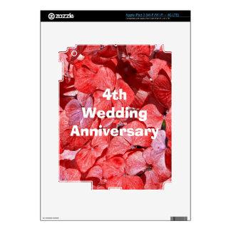 Fourth Wedding Anniversary gift iPad 3 Decals