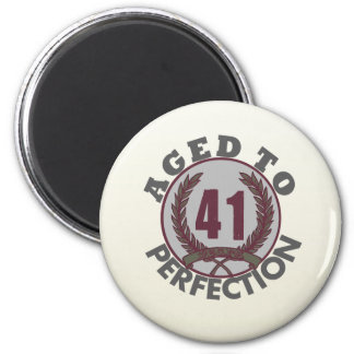 Fourty One and aged to Perfection Birthday 2 Inch Round Magnet