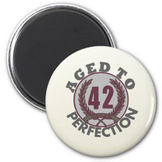 Fourty Two and aged to Perfection Birthday 2 Inch Round Magnet
