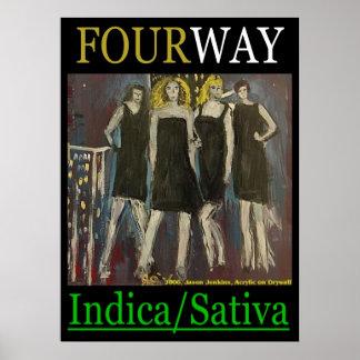 FOURWAY INDICA SATIVA POSTER