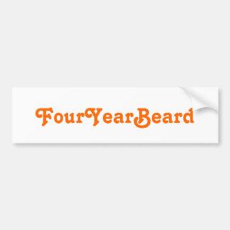 FourYearBeard Etiqueta De Parachoque