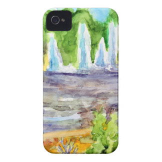 Foutain downtown Olathe.jpg iPhone 4 Case-Mate Case