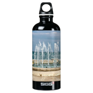 Foutain river sky water coral aluminum water bottle