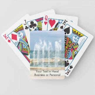 Foutain river sky water coral blur lighten bicycle playing cards