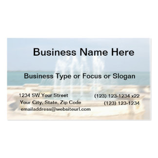 Foutain river sky water coral blur lighten Double-Sided standard business cards (Pack of 100)