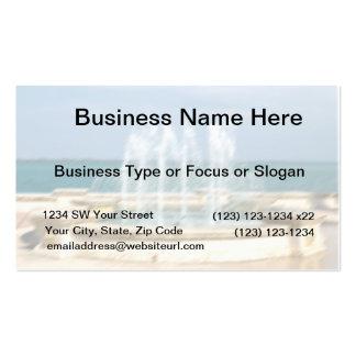 Foutain river sky water coral blur lighten business card
