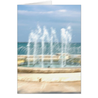 Foutain river sky water coral blur lighten greeting card
