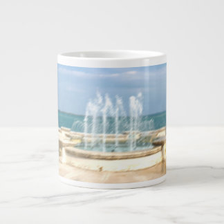 Foutain river sky water coral blur lighten giant coffee mug