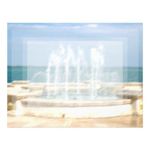 Foutain river sky water coral blur lighten letterhead