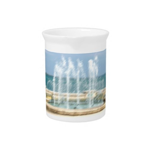 Foutain river sky water coral blur lighten drink pitchers