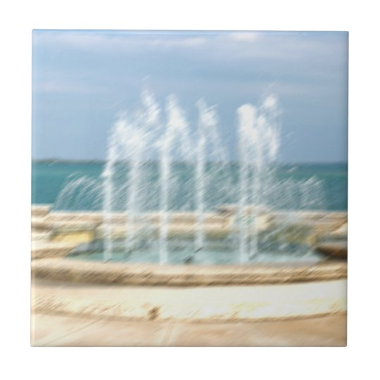 Foutain river sky water coral blur lighten tile