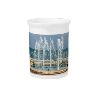 Foutain river sky water coral drink pitchers