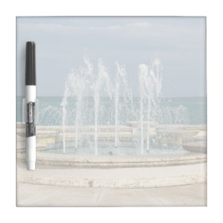 Foutain river sky water coral dry erase board