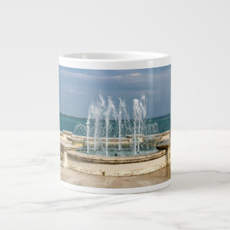 Foutain river sky water coral large coffee mug