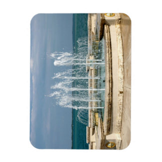 Foutain river sky water coral rectangular photo magnet