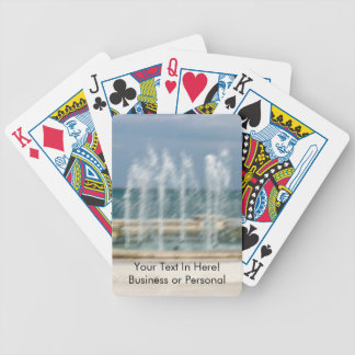 Foutain river sky water coral sketch blur bicycle playing cards