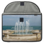 Foutain river sky water coral sketch blur sleeve for MacBooks