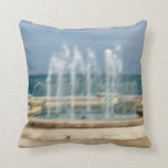 Foutain river sky water coral sketch blur pillow