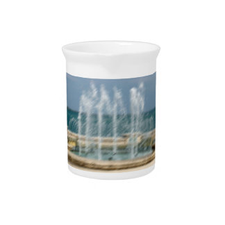 Foutain river sky water coral sketch blur pitcher