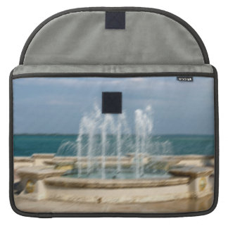 Foutain river sky water coral sketch blur sleeve for MacBook pro