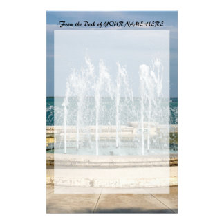 Foutain river sky water coral stationery