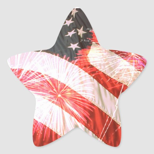 Fouth of July Patriotic Star Sticker