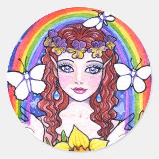 Fower Fairy Rainbow Stickers by Ann Howard