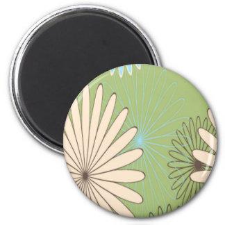 Fower Graphic 2 Inch Round Magnet