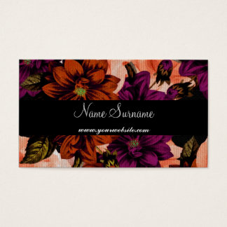 Fowers and Black Business Card