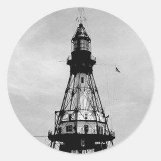 Fowey Rocks Lighthouse Classic Round Sticker