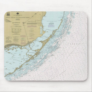 Fowey Rocks to Alligator Reef FL Chart Mouse Pad