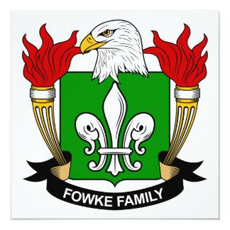 Fowke Family Crest Card
