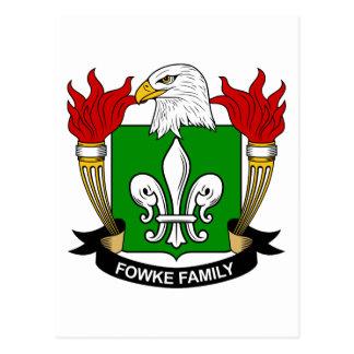Fowke Family Crest Postcard
