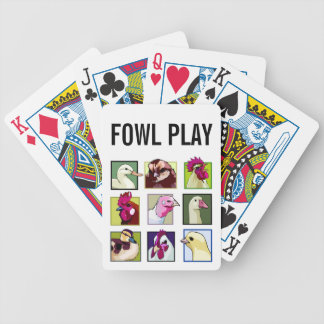 Fowl birds: Fowls (chicken, duck, goose, turkey) Bicycle Playing Cards