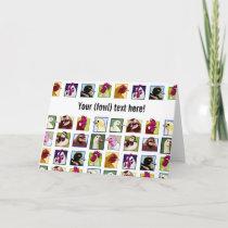 Fowl birds: Fowls (chicken, duck, goose, turkey) Card