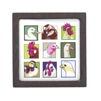 Fowl birds: Fowls (chicken, duck, goose, turkey) Jewelry Box