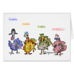 Fowl Language Happy Thanksgiving Turkeys Greeting Card