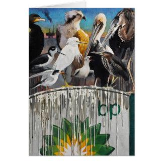 Fowl Language Oil Disaster Art Card