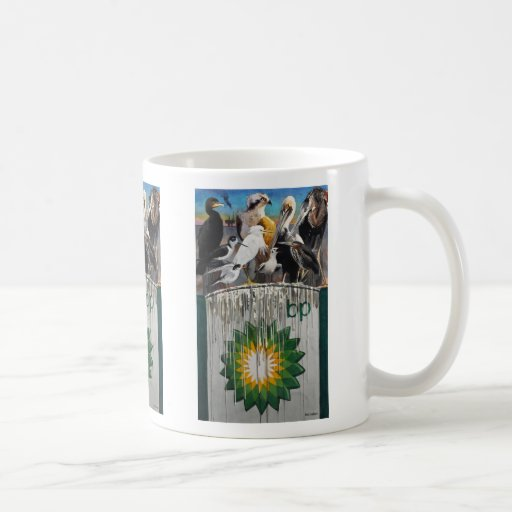 Fowl Language Oil Disaster Art Coffee Mug