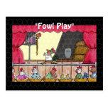 Fowl Play Chicken Rapunzel Post Cards