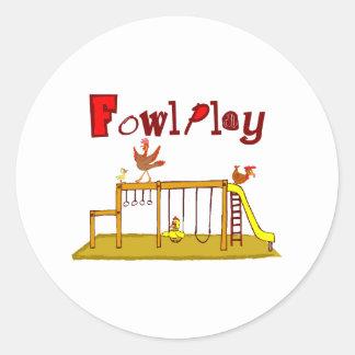 Fowl Play Sticker