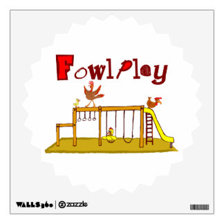Fowl Play Room Decal
