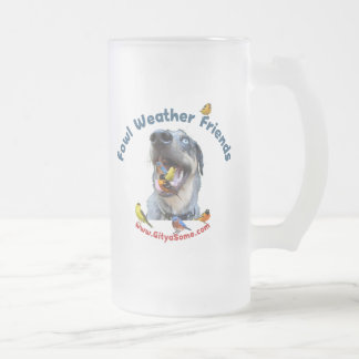Fowl Weather Friends Dog Coffee Mugs